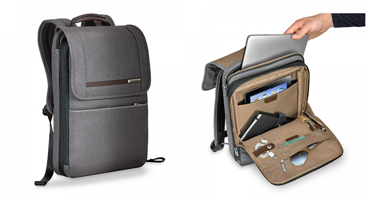 Kinzie Street Flapover Expandable Backpack for corporate gifts and incentives