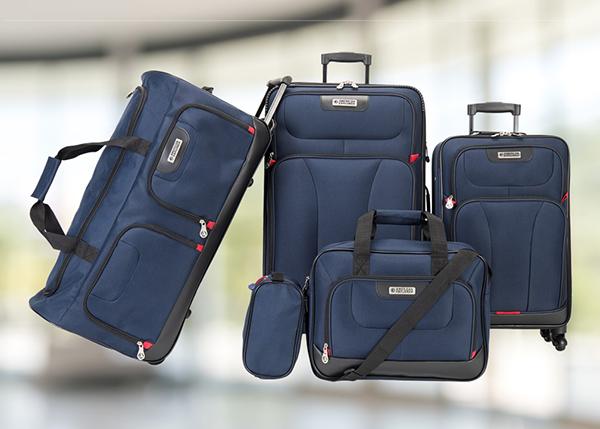 American Explorer - Drake 5 Piece Premium Luggage Set - Navy