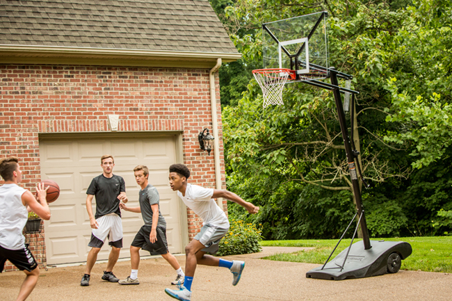 Take it outdoors with Silverback portable basketball hoops