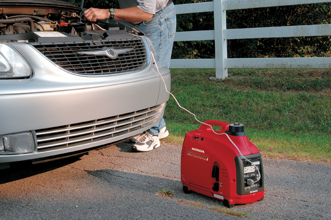 Honda Power Equipment also offers portable generators, like the efficient and lightweight 1000i Watt Super Quiet Series Generator