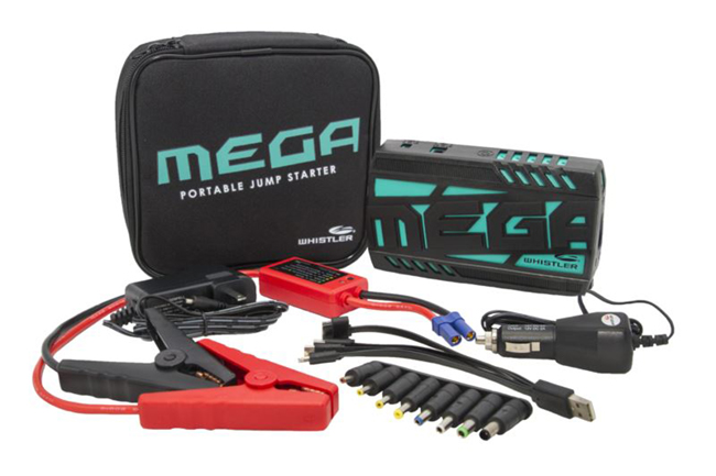 With Whistler's Mega Portable Jump Start and Power Supply, you can take matters into your own hands