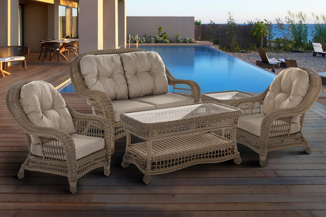 For a bolder look, opt for the Saturn Garden Patio 5-Piece Conversation Set