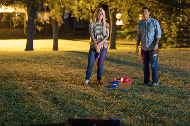 To provide fun for all ages during Labor Day weekend, try the Triumph Sports Advanced LED Bean Bag Toss, complete with glowing bags and glow sticks for nighttime visibility