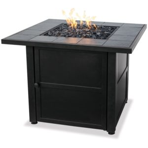 Endless Summer LP Gas Outdoor Firebowl with Slate Tile Mantel