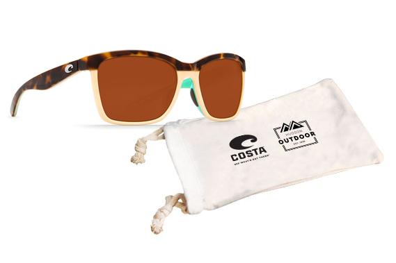 Anaa Sunglasses - (Frame) Retro Tortoise, Cream, Mint; (Lens) Copper, Plastic 580P