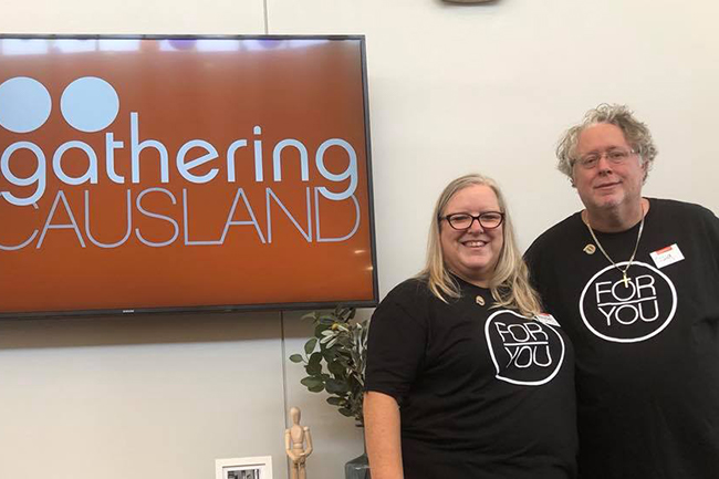 Mary Pat Mitchell and her husband Craig have volunteered for The Gathering UMC for the past eight years