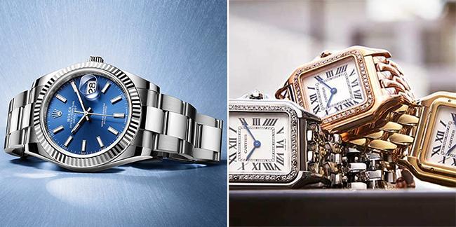 Rolex and Cartier