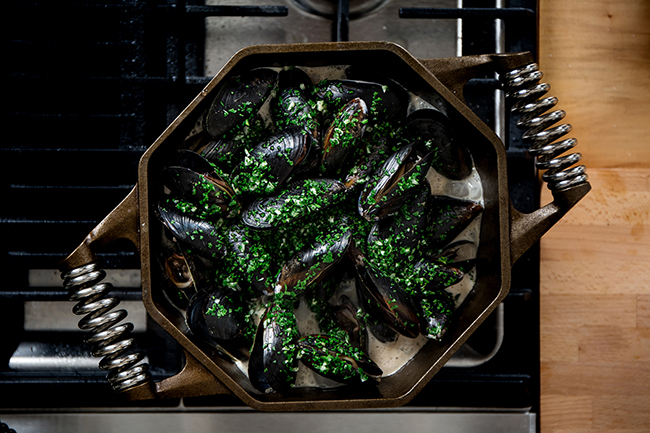 For more intricate dishes, the 5 Qt. Cast Iron Dutch Oven provides even heating for baking, braising, simmering, stewing, or slow-cooking