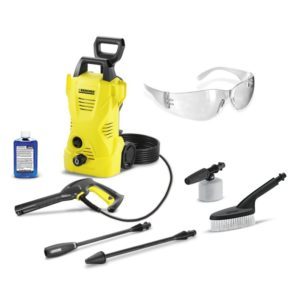 Karcher 1600 PSI - 1.25 GPM - Electric Pressure Washer & Car Care Kit Package