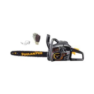 """Poulan Pro 42cc, 18"""" Anti-Vibe 2-Cycle Gas Chain Saw Package"""