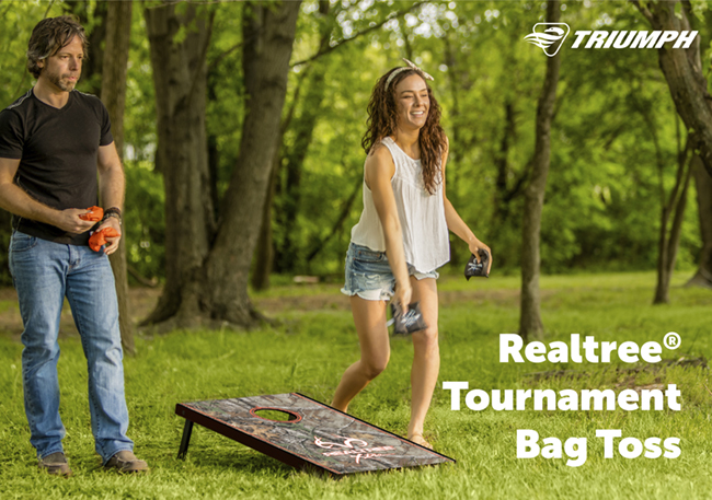 The REALTREE™ Tournament Bag Toss is easy to transport to other locales like the local park or campsite.