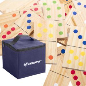 Triumph Sports Domino Set, 28 pc Wood Lawn