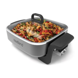 """West Bend® 12"""" Extra-Deep Skillet with Grease Channel"""