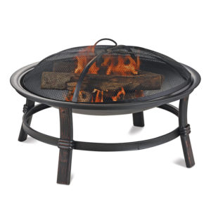 Endless Summer - Brushed Copper Wood Burning Outdoor Fire Pit