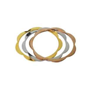 Slender Scallop Bangle Set - Multi