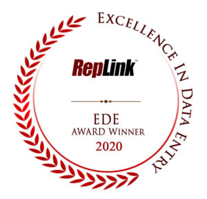 RepLink Excellence in Data Entry Award 2020