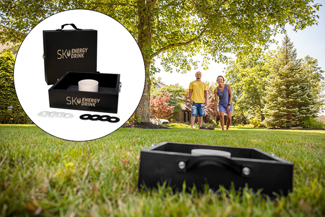 Both the Washer Toss and Bag Toss encourage friendly competition without sacrificing social distance.