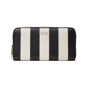 Spencer Stripe Zip Around Continental Wallet - Black Multi