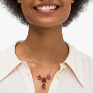 Blushing Blooms Necklace - Red Multi