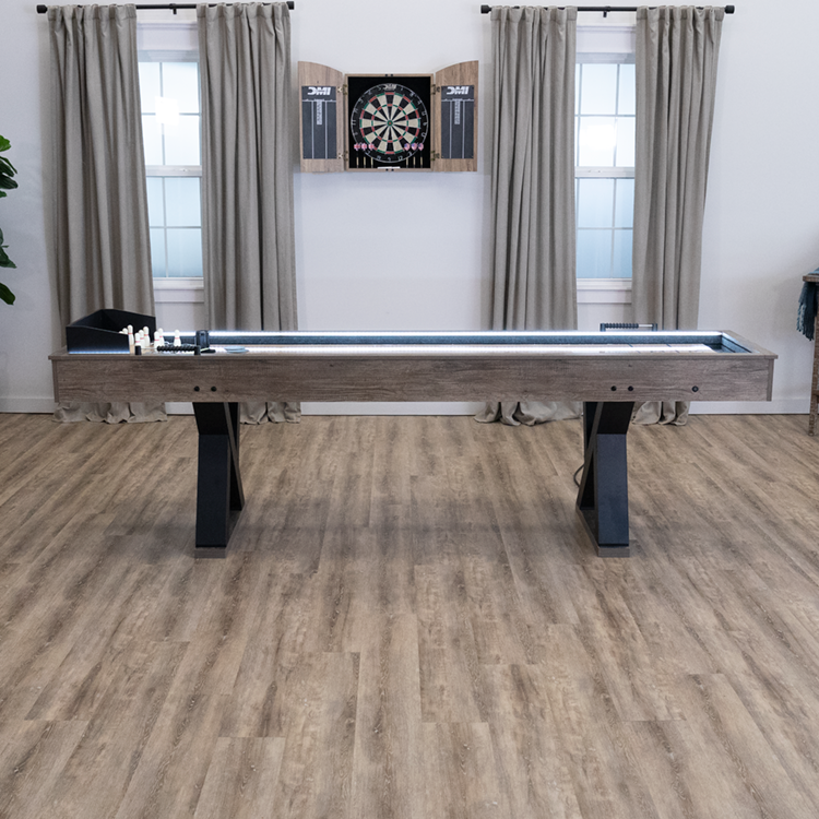 American Legend - Kirkwood 9' LED Light Up Shuffleboard Table with Bowling