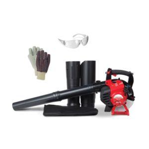 Troy Bilt 3-in-1 Blower/Vacuum/Shredder w/Gloves & Safety Glasses