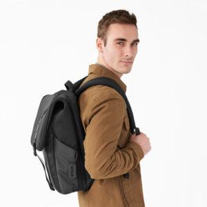 Delve Large Fold-over Backpack - Black