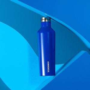 25oz Canteen w/Bottle Brush & Canteen Cap w/Straw - Gloss Cobalt