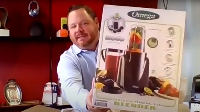 In January, Southeast Sales Manager Aaron Cook joined the show to unbox wellness-themed rewards like Omega's Deluxe Personal Blender Set
