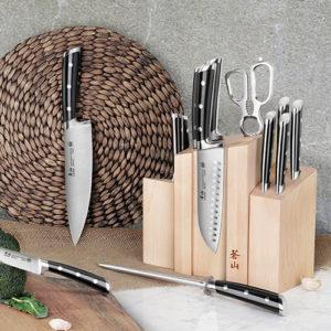 14-Piece TS Series DENALI Magnetic Knife Block Set